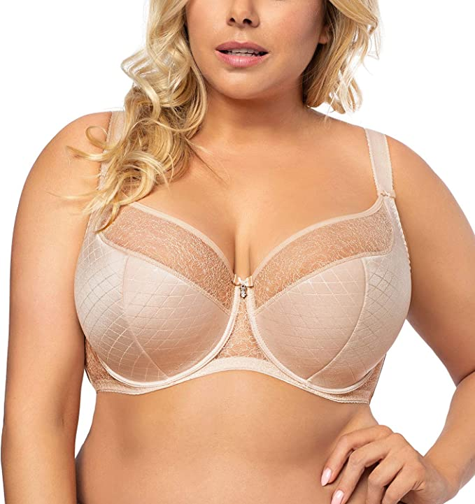 matching briefs available Gorsenia K357 Blanca underwired semi padded bra lace