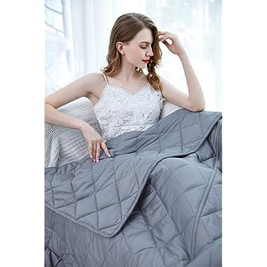 ZZZhen Weighted Blanket - California King Size, 80''87'' - 25LB Blanket & Duvet Cover, Premium Cotton Luxury Set