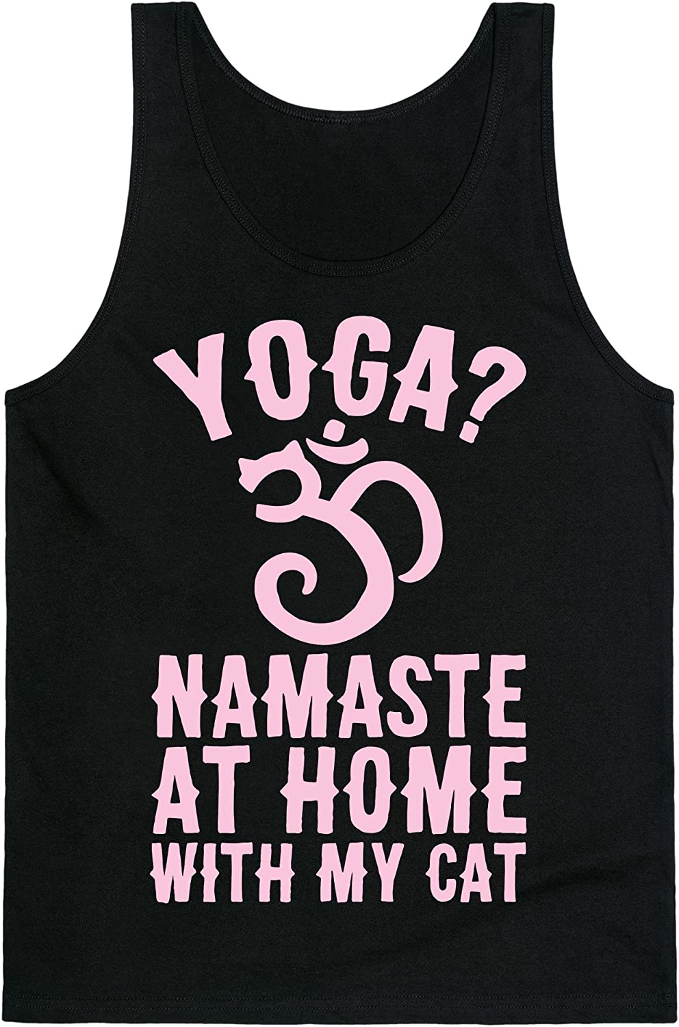 LookHUMAN Namaste at Home with My Cat Mens/Unisex Tank