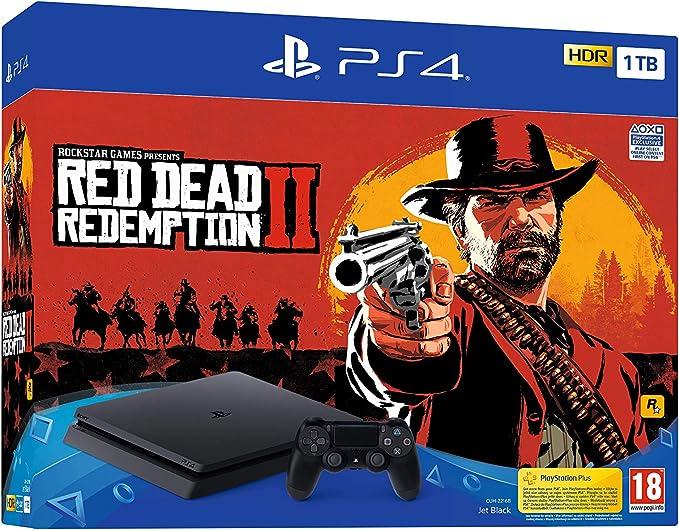 Sony PlayStation 4 Slim 1TB + Red Dead Redemption 2 Negro 1000 GB Wifi - Videoconsolas (PlayStation 4, Negro, 8192 MB, GDDR5, GDDR5, AMD Jaguar): Amazon.es: Videojuegos