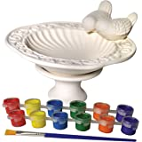 Sassafras My Little Garden: Paint Your Own Ceramic Bird Bath Paint Kit