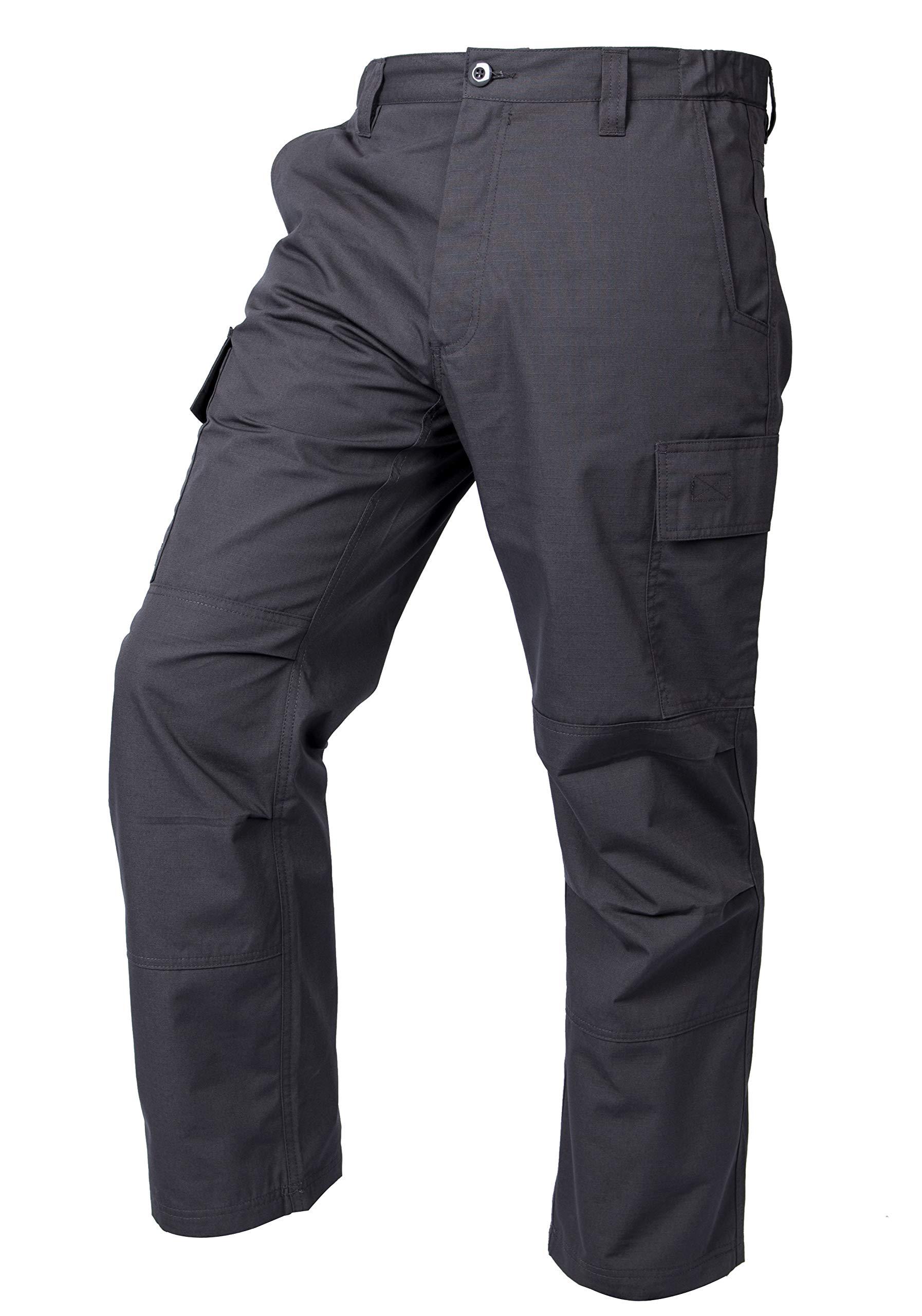 LA Police Gear Mens Core Cargo Lightweight Work Pant - Charcoal - 40 X 32