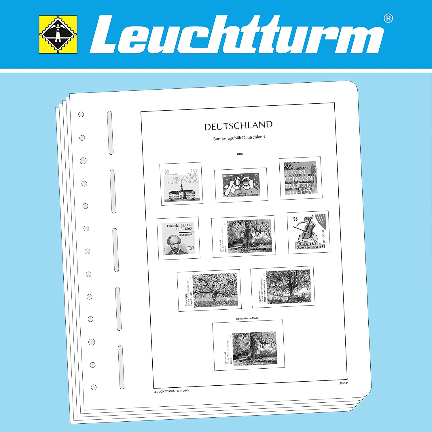 Leuchtturm 342757 LIGHTHOUSE Illustrated album pages Federal Republic of Germany 2010-2011