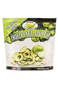 Dried Tart Apple Slices, No Added Sugar, Sunrise Fresh Dried Fruit Co.