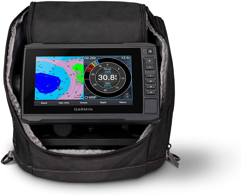 Garmin ECHOMAP UHD 73cv Ice Fishing Bundle, Includes ECHOMAP UHD 73cv Combo and GT10HN-IF Transducer