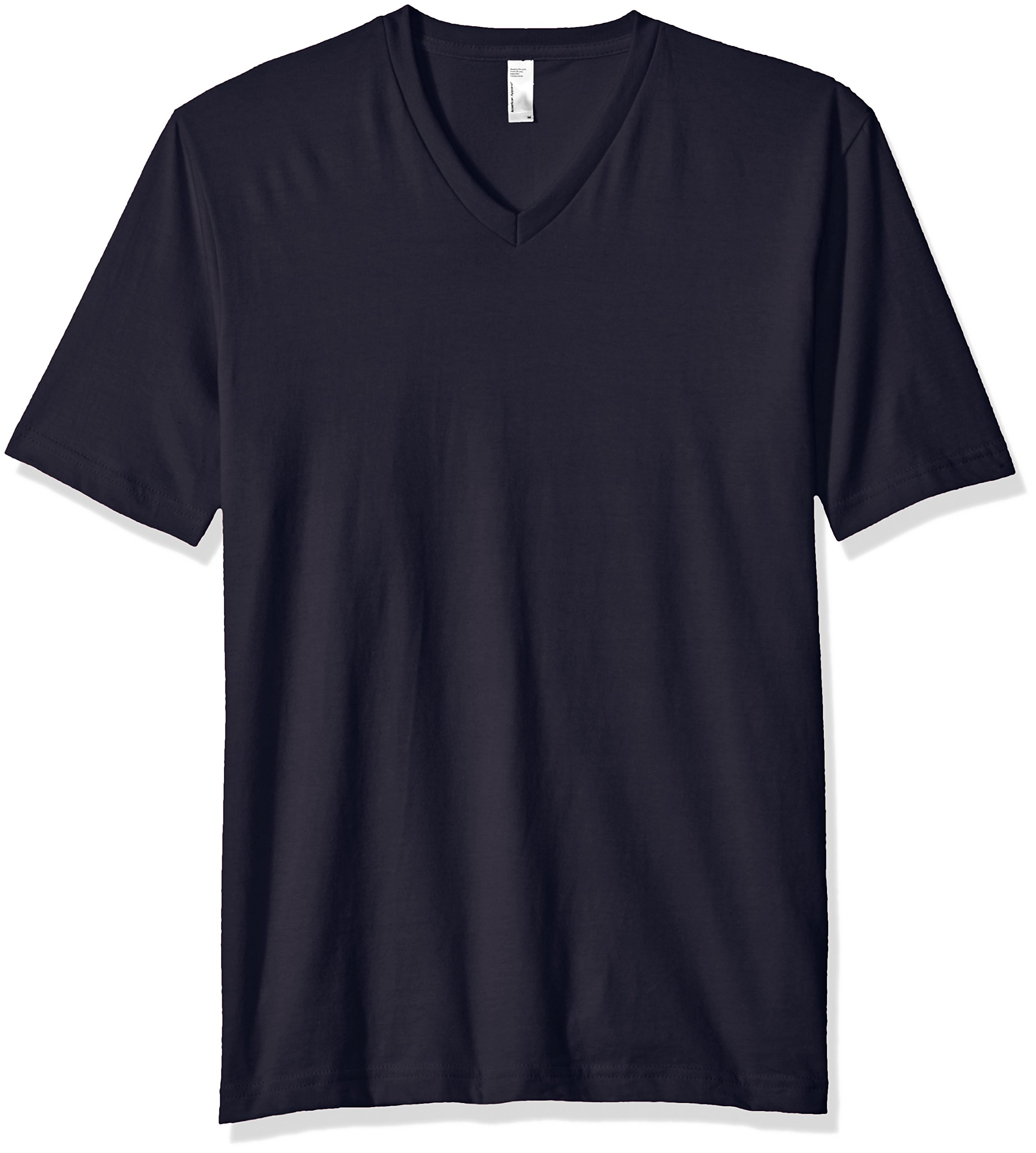 American Apparel Men's Fine Jersey Short Sleeve Classic V-Neck T-Shirt, Navy, X-Large