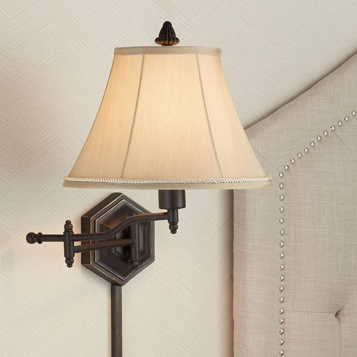 Hexagon Swing Arm Plug-in Wall Lamp by Barnes and Ivy