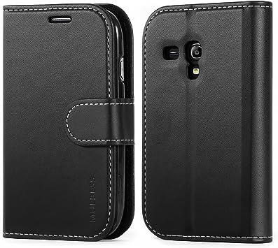 Mulbess Business Funda para Samsung Galaxy S3 Mini, Funda Cartera Samsung Galaxy S3 Mini, Funda Móvil Samsung Galaxy S3 Mini, Funda Cuero para Samsung Galaxy S3 Mini con Tapa, Negro: Amazon.es: Electrónica