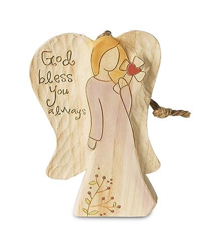 dd80850bc Amazon.com: Pavilion Gift Company 78015 God Bless You Angel Figurine ...