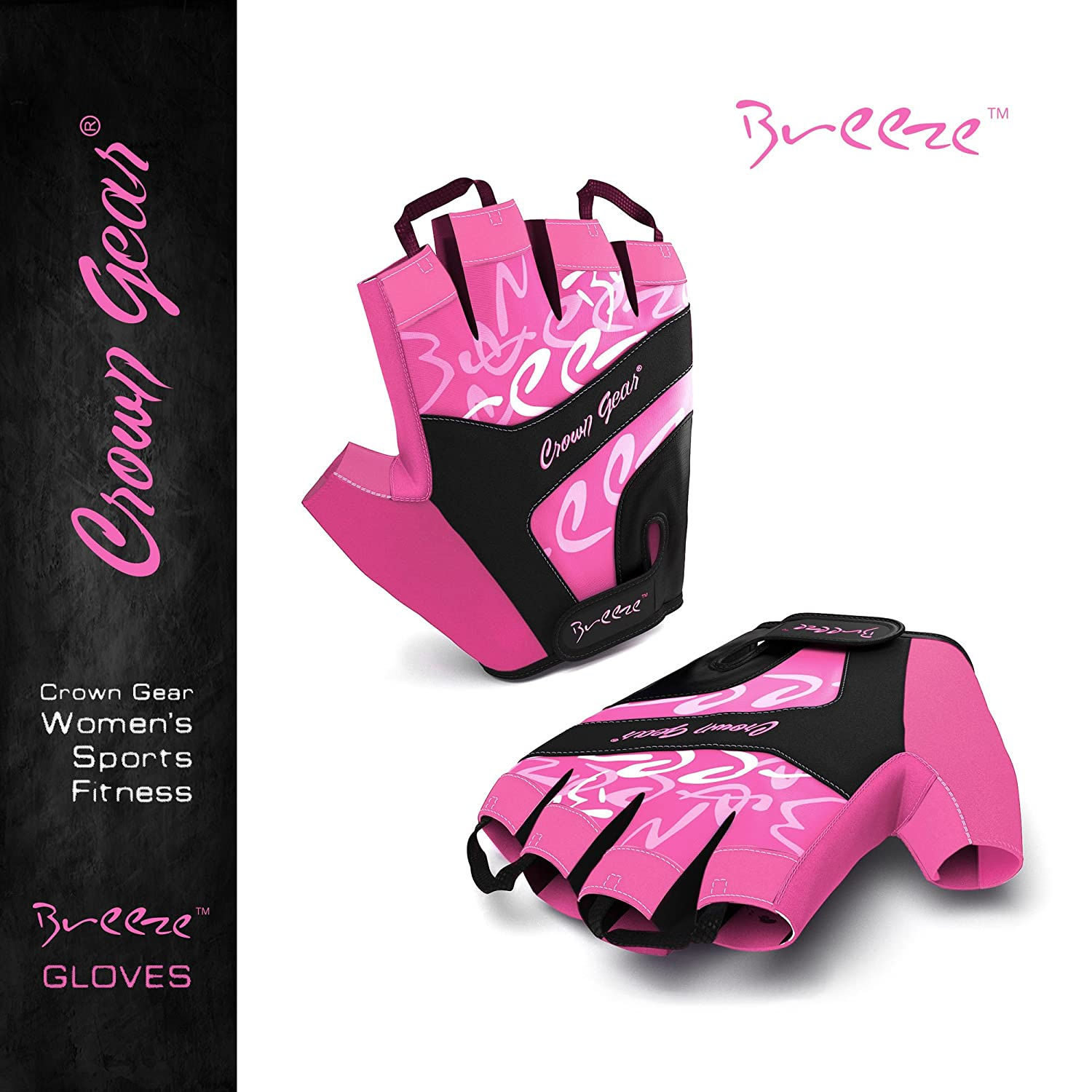 Breeze Women/'s Biking Cycling Gloves Performance Mountain Dirt Bike and Cycle Gloves with Adjustable Wrist Closure and Pull-Off Tapes
