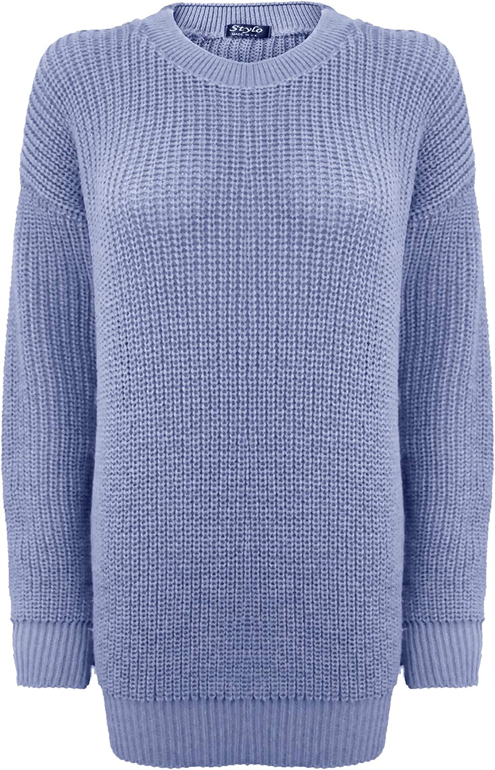 Generation Fashion Ladies New Plain Chunky Knit Loose Baggy Oversized Jumper Tops Womens Long Sleeve Knitted Smart Formal Everyday Casual Classy Lightweight Knitwear Sweater