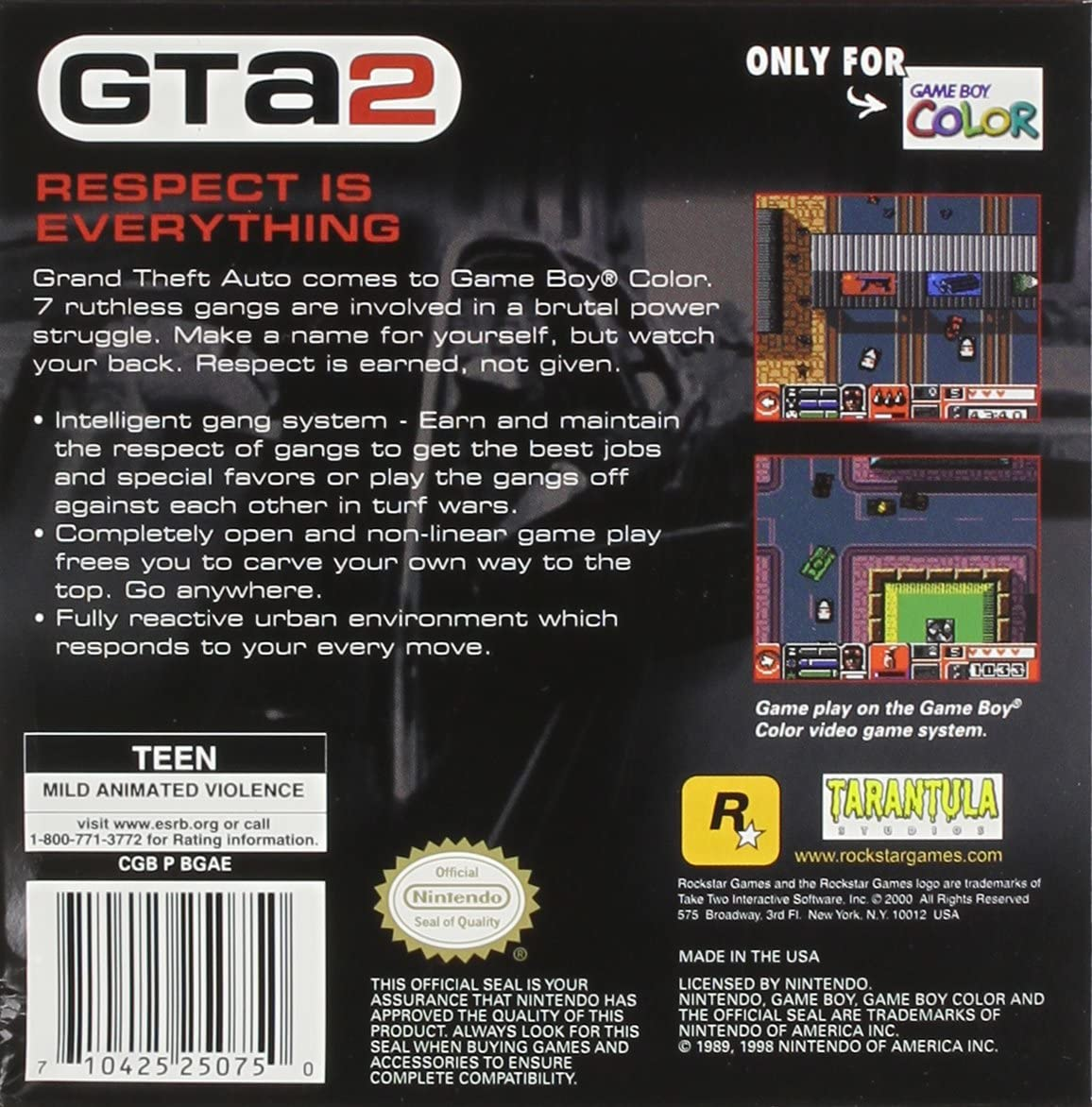 Gta 2 gameboy color - Amazon Com Grand Theft Auto 2 Game Boy Color Nintendo Game Boy Color Video Games