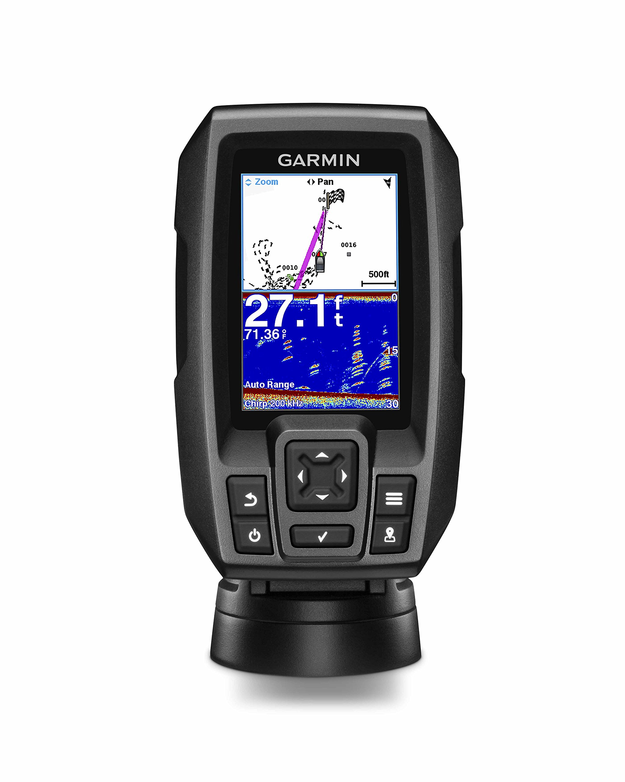 Garmin Striker 4 with Transducer, 3.5'' GPS Fishfinder with CHIRP Traditional Transducer by Garmin