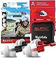 Protetor Auricular Alpine Motosafe Pro - 2 pares Redução de ruído e proteção auditiva - Turismo e Corrida - Tampões auriculares reutilizáveis hipoalergênicos
