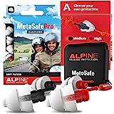 Protetor Auricular Alpine Motosafe Pro - 2 pares Redução de ruído e proteção auditiva - Turismo e Corrida - Tampões auricular