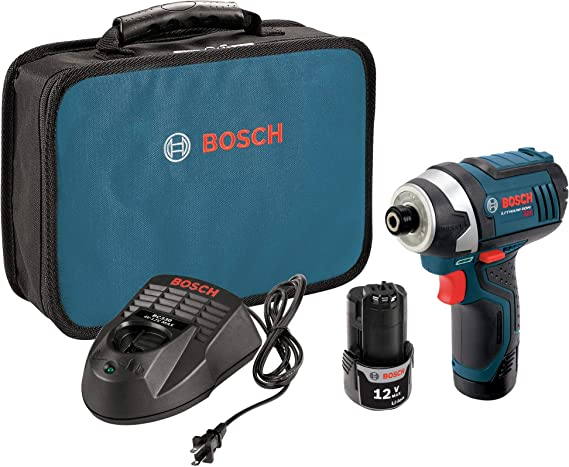 Bosch PS41-2A 12V Max 1/4-Inch Hex Impact Driver Kit with 2 Batteries