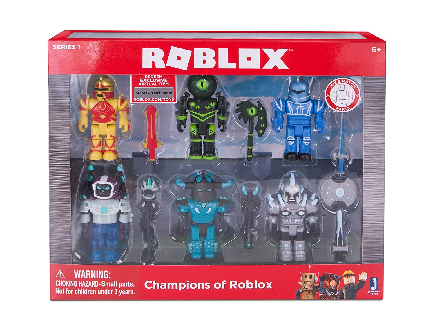 Amazon Com Roblox Champions Of Roblox Six Figure Pack Toys Games