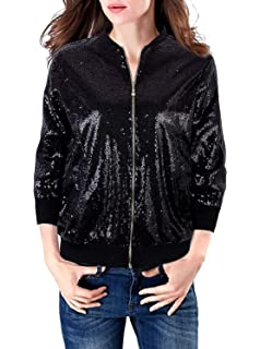Amazon.com: Anna-Kaci, chamarra estilo blazer con cierre ...