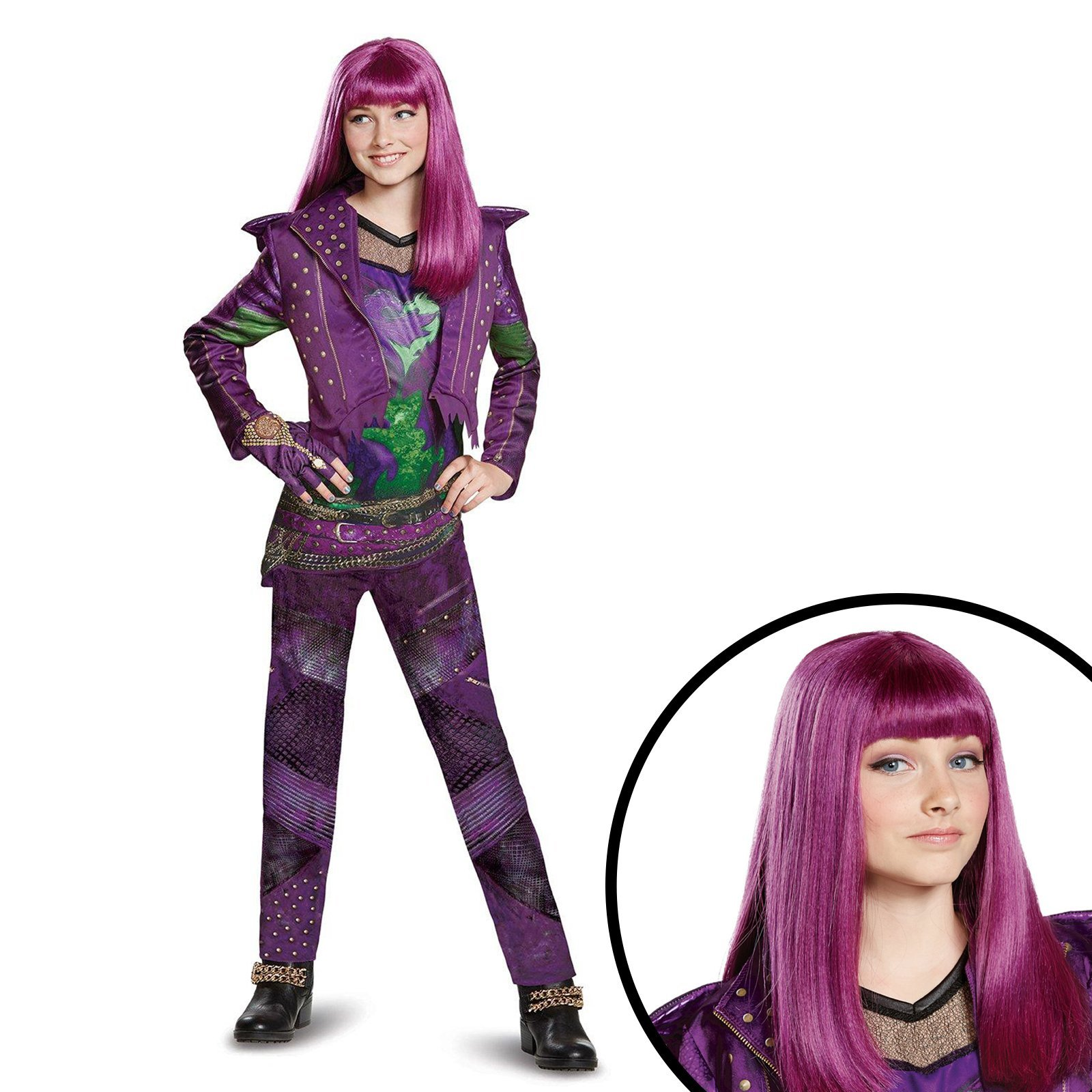 Disney's Descendants 2 - Mal Deluxe Children's Isle Look Kit M