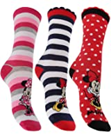 3 Pairs of Ladies/Girls Disney Minnie Mouse & Friends Novelty Socks / UK 4-8 Eur 36-40