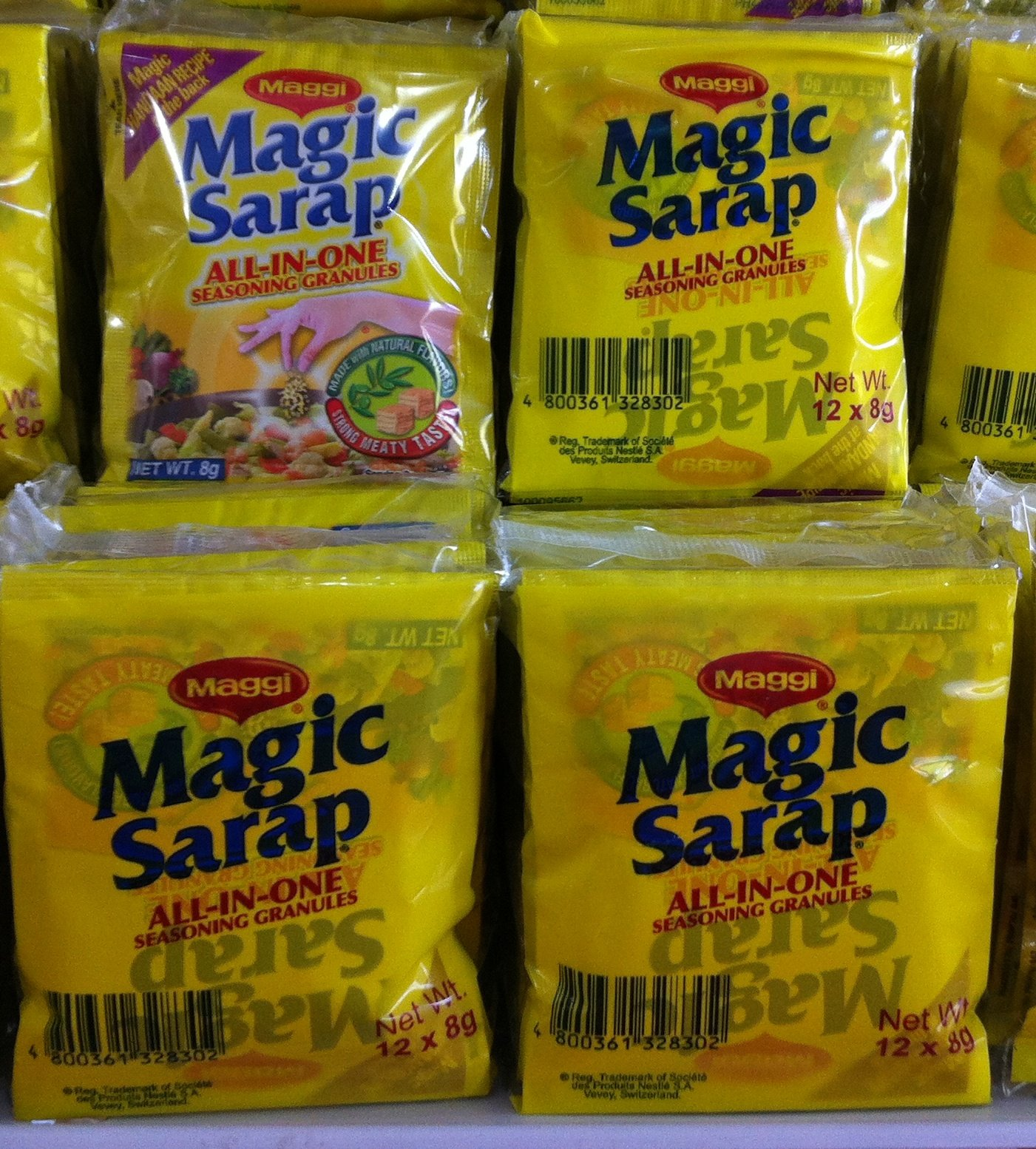 5 PACKS Maggi Magic Sarap Philippines All-in-One Seasoning Granules (12PCS/PACK) by Nestle, Inc. (Image #1)