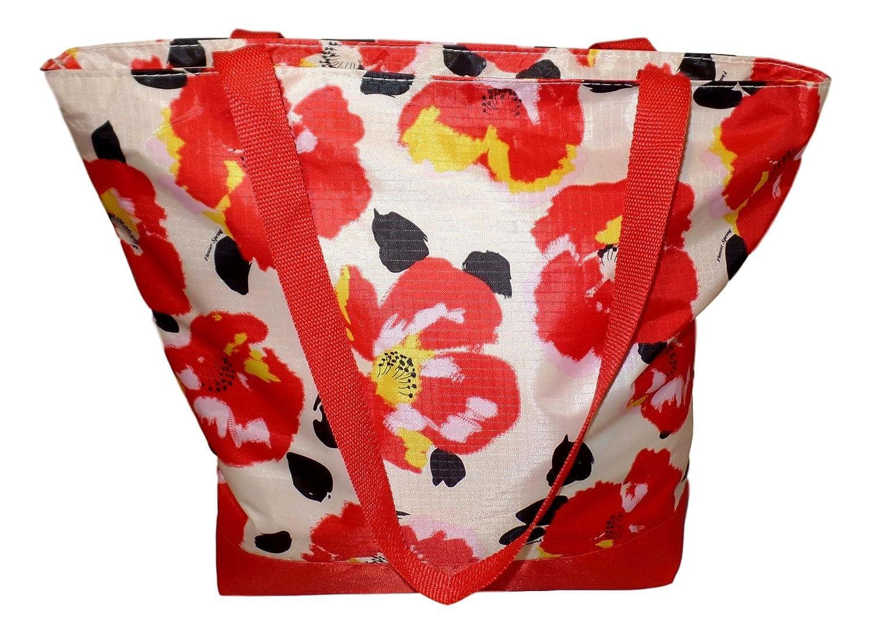 Womens Zipper Top Fashion Print Tote Bag