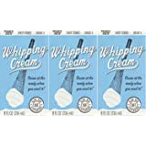 3 pack Trader Joe's Shelf Stable Tetra Grade A Whipping Cream 8 FL Oz (236 mL) Cream at the Ready When You Need It (UHT…