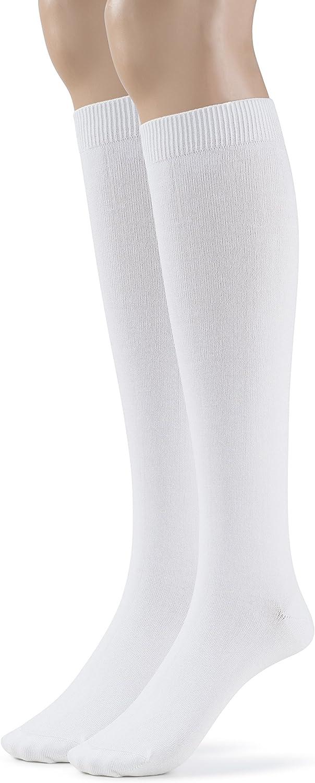 Silky Toes Modal Mens Long Knee High Socks Over the Calf Casual Dress or Work Socks, 2 or 4 Pk