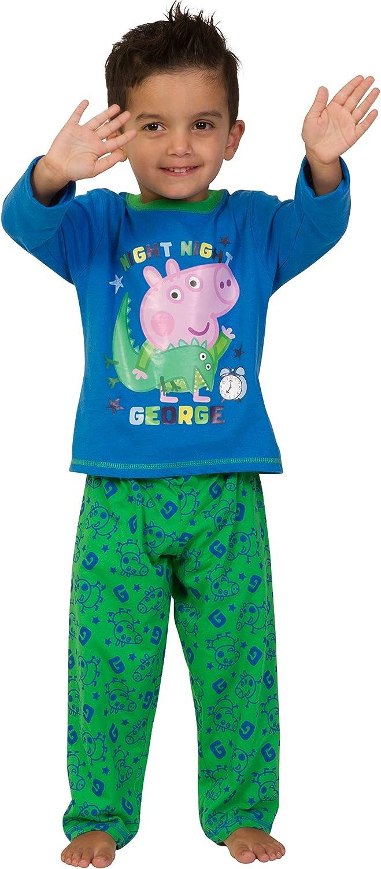 Scarpe da bambino Peppa Pig George lunghi pigiama da ragazzo colore blu
