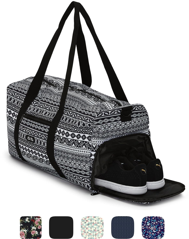 Sac de sport élégant Ela Mo's avec compartiment chaussures - 38l - bagages à main - pour les hommes et les femmes - dans 6designs tendance A Rose is A Rose trend & traction