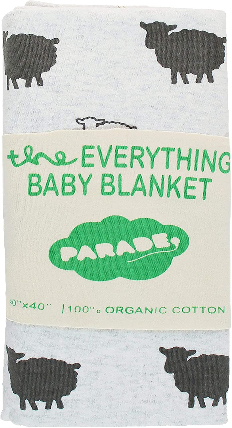 PARADE Everything Baby Blanket Grey Sheep
