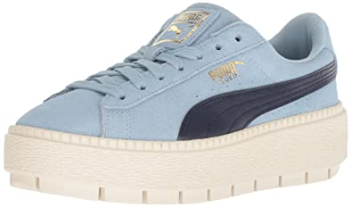 79ac6874e68503 PUMA unisex-kids Suede Platform Trace Kids Sneaker