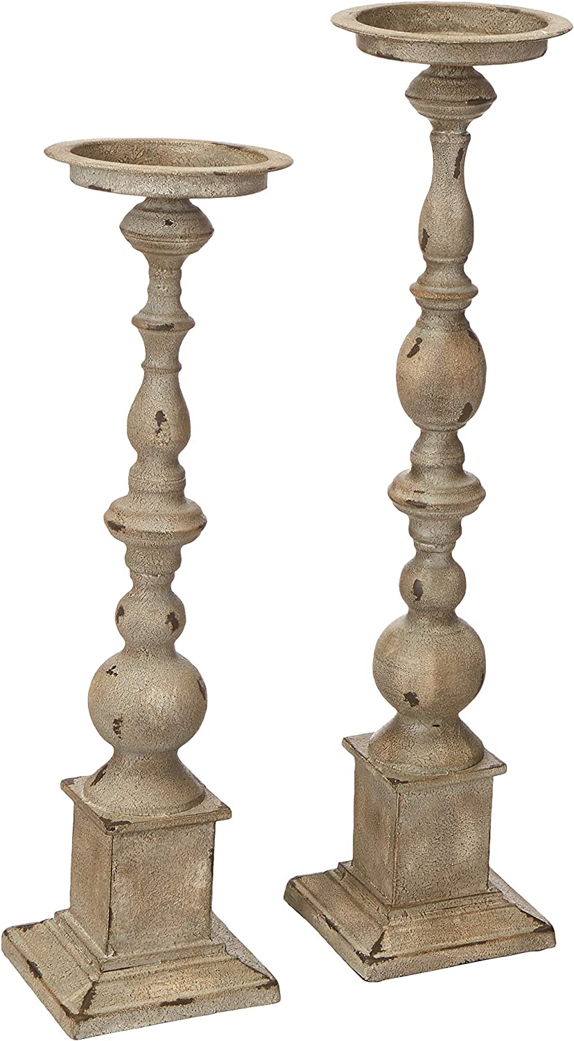 Imax 74182-2 Hamilton Candleholders – Set of 2 Candle Stands, Handcrafted Candle Sticks, Vintage Inspired, Wrought Iron Candle Holders. Home Decor: Home & Kitchen