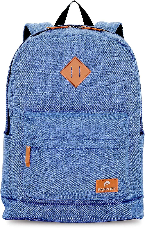 Panport Classic Laptop Computer Backpack Shockproof Lightweight Bookbag