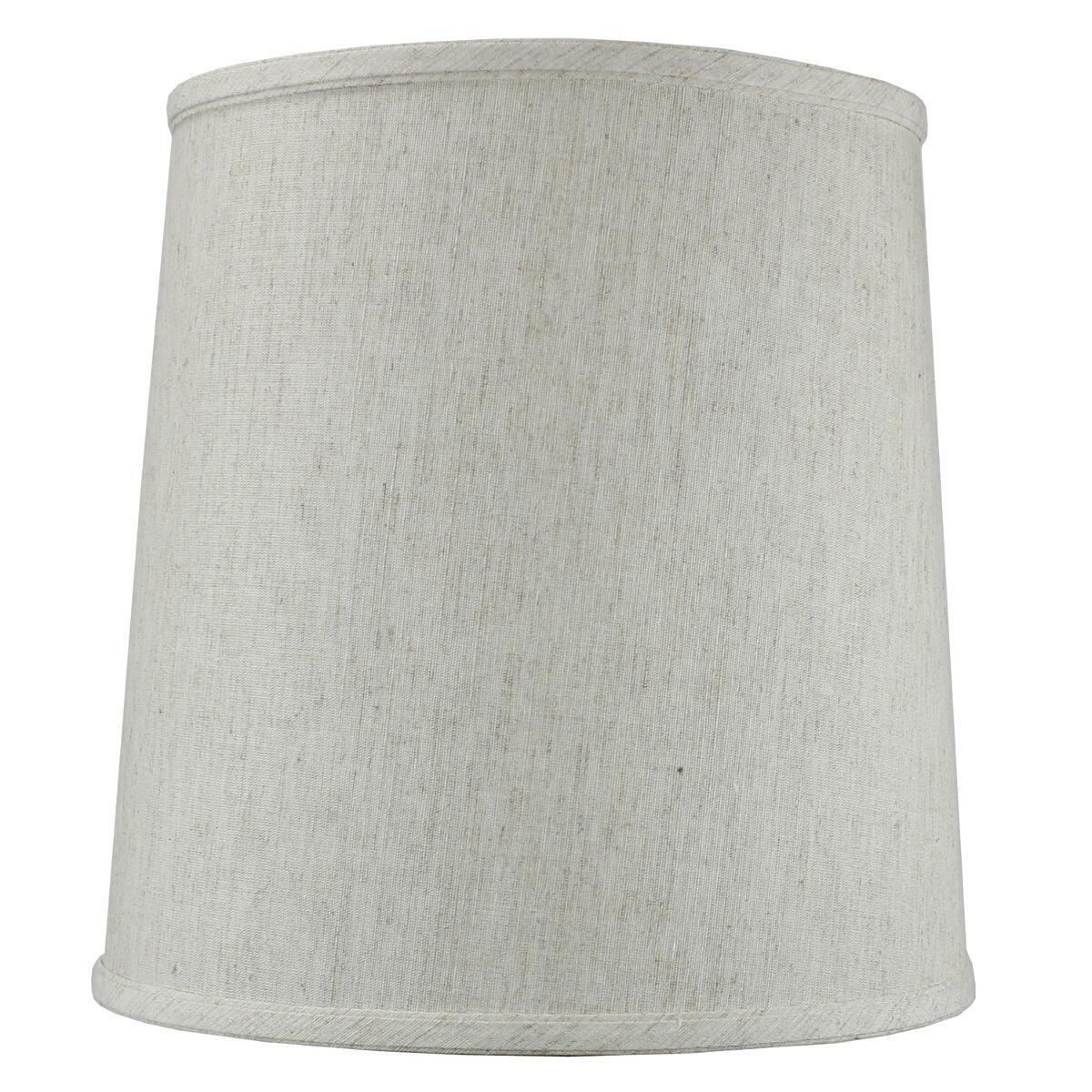 10x12x12 Textured Oatmeal linen Fabric Drum Lampshade with Brass Spider fitter By Home Concept - Perfect for table and desk lamps - Medium, Off-white