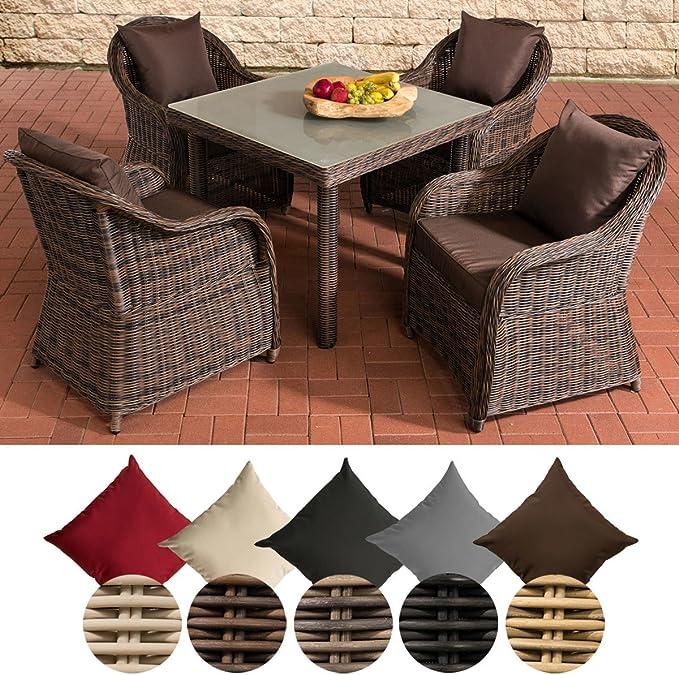 CLP Polirratán Mobiliario de jardín San Juan XL | – Conjunto de Muebles de jardín con 4 sillas y una Mesa de jardín, Disponible en diseños: Amazon.es: Juguetes y juegos