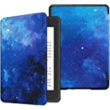 Fintie Slimshell Case for All-New Kindle Paperwhite (10th Generation, 2018 Release) - Premium Lightweight PU Leather Cover with Auto Sleep/Wake for Amazon Kindle Paperwhite E-Reader, Starry Sky