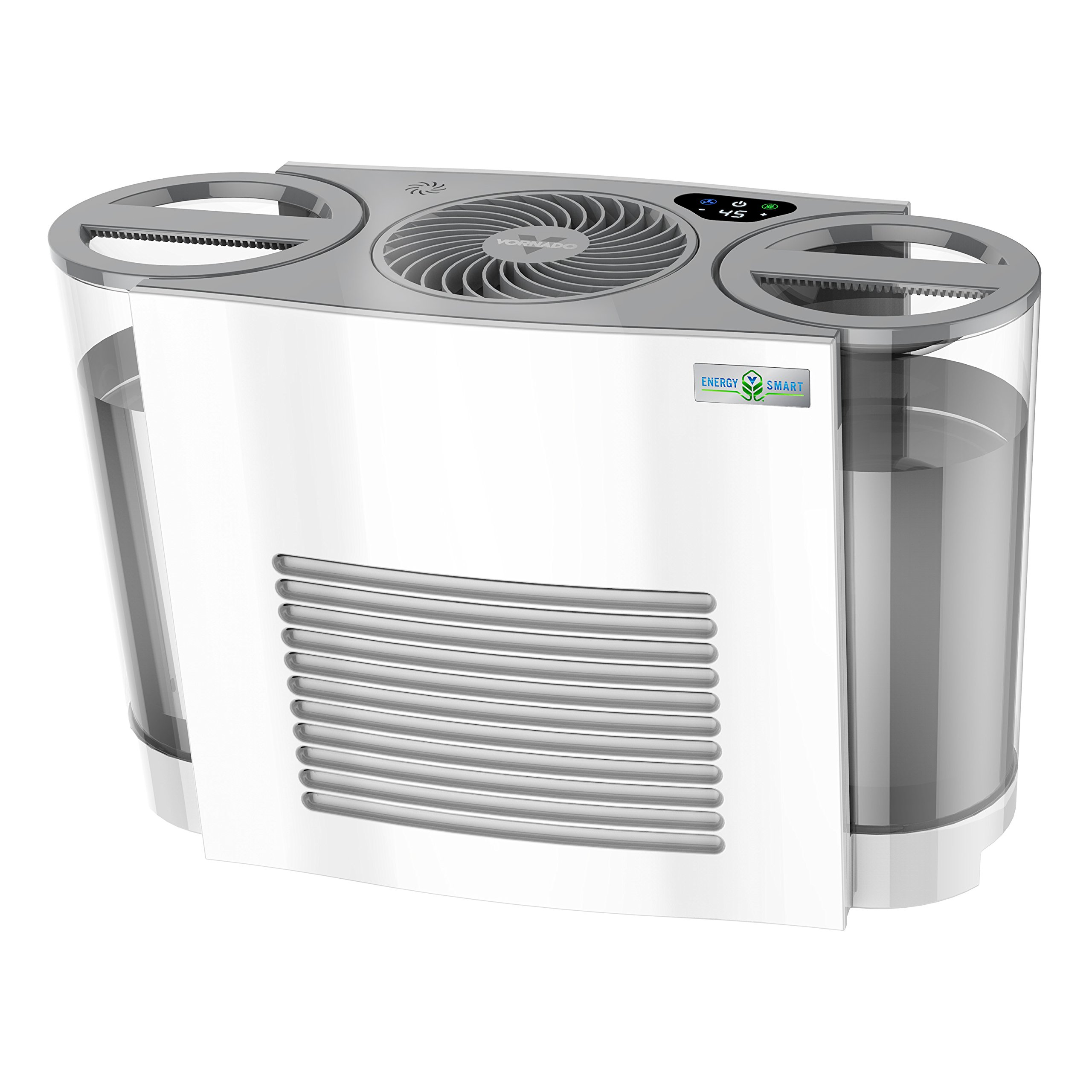 Vornado EVDC500 Energy Smart Evaporative Humidifier with Automatic Shut-off, 2 Gallon Capacity, LED Display by Vornado