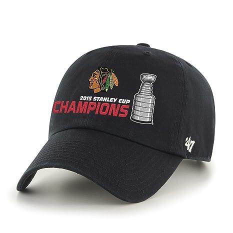 268139444 Amazon.com : NHL Chicago Blackhawks Clean Up Adjustable Hat, Black ...