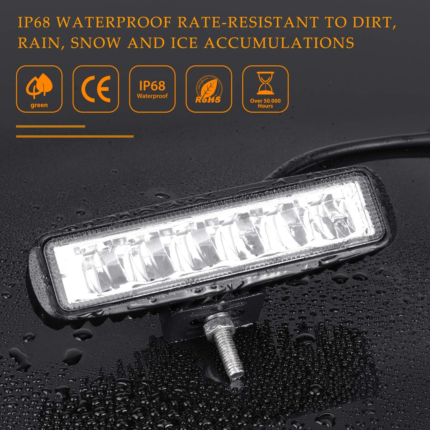 LED/Pods,/SWATOW INDUSTRIES 2PCS/36W/6/Inch/LED/Work Light/Bars/Flood Beam/LED/Fog/Lights Off/Road/Driving/Lights/Work/Lights/for/Truck/Jeep/Ford ATV/&n