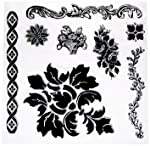 Prima Marketing 814342 Fleur Iron Orchid Designs Decor Stamps, Clear