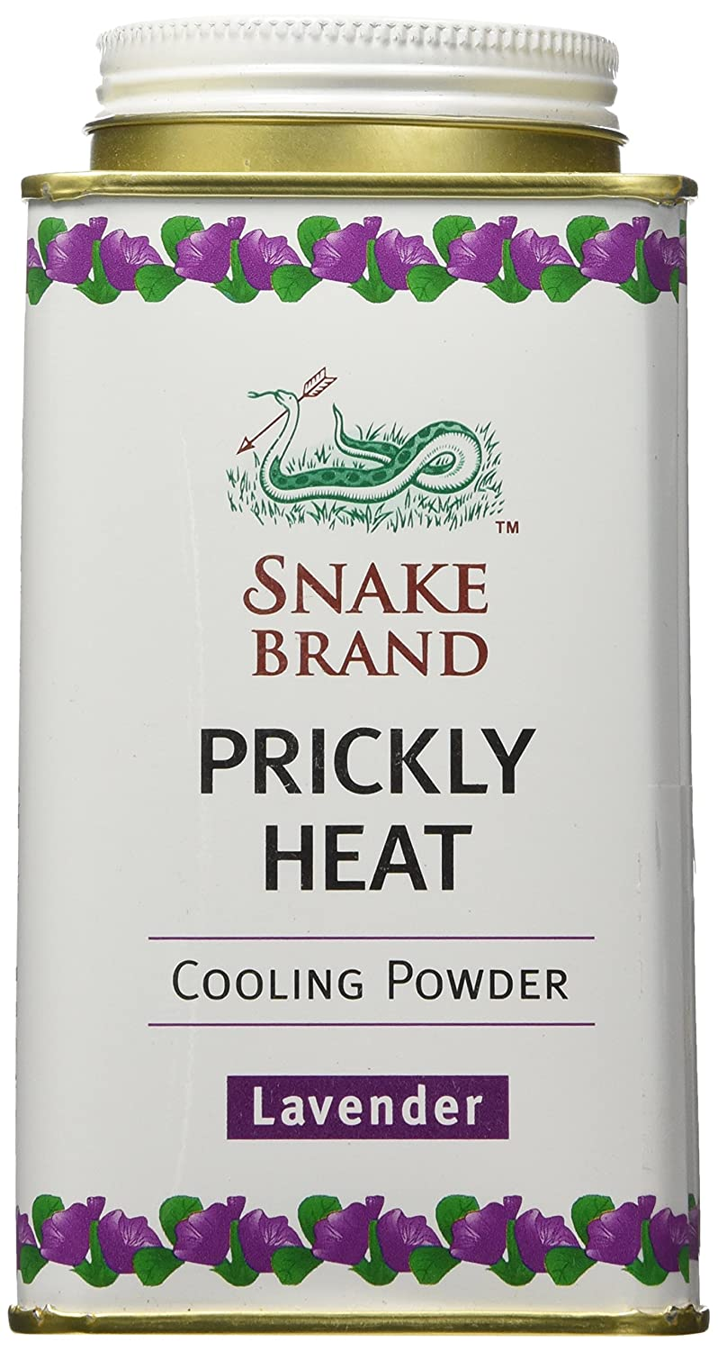 Snake Brand Prickly Heat Cooling Powder Lavender 140 grams