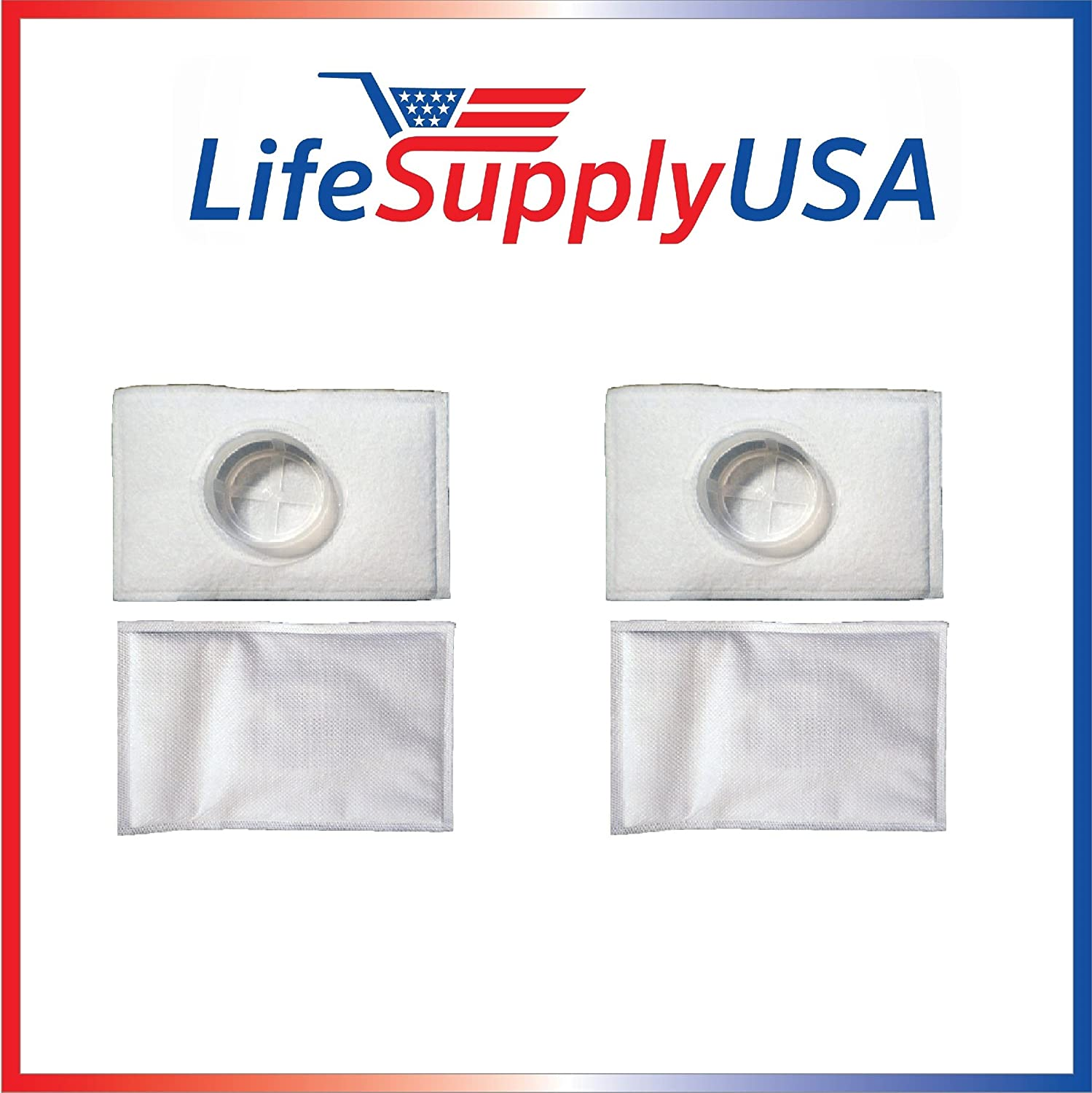 LifeSupplyUSA 4 Pack Filter Compatible with Electrolux Aerus Canister Vacuum HEPA Micro electrostatic Filter LE 2100, Ap100, Diplomat, Ambassador, Epic 6500, Full Kit, 200 350 622 10, 079
