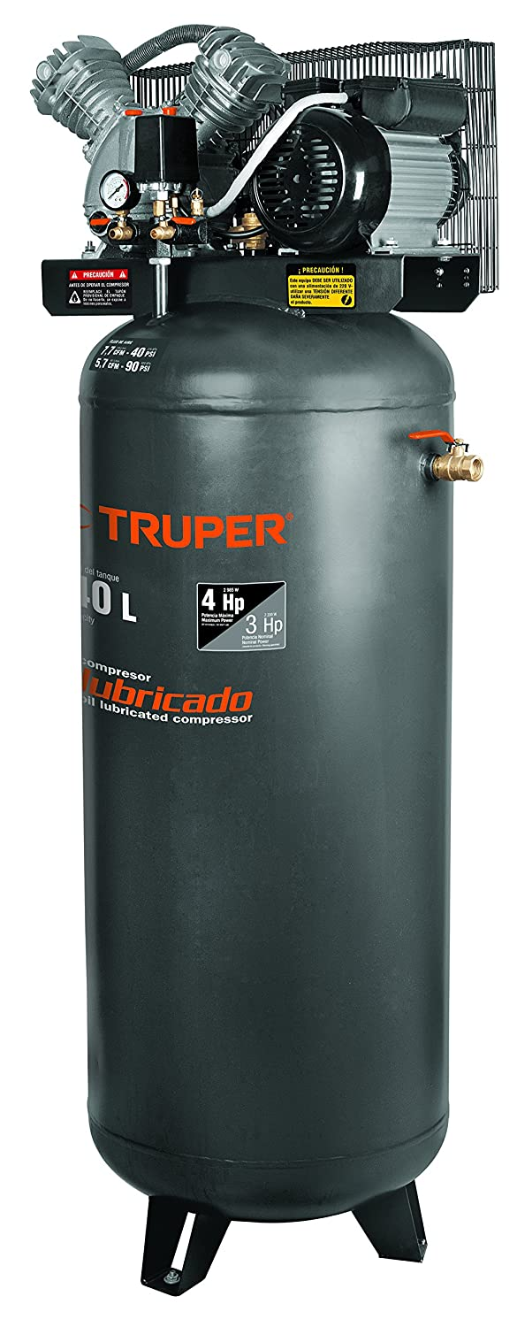 TRUPER COMP-240LV 63-Gal Oil-Lubricated Vertical Air Compressor - - Amazon.com