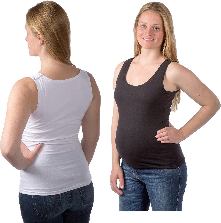 Shirt Biancheria Intima//Canottiera Camicia Top Nitis Umstandsmode Donna Nursing Allattamento Tanktop