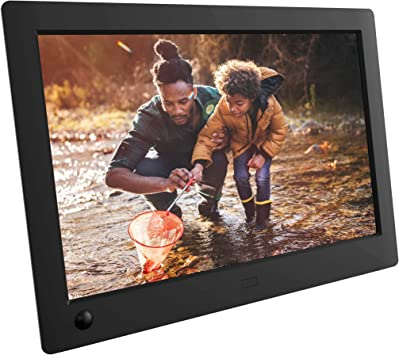DAETNG Digital Photo Frame Support USB and SD Card,Black+Induction 7 inch High Resolution with Motion Sensor Photo//Music//Video Player Calendar Alarm with Remote Control Digital Picture Frame