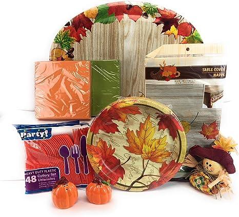 ASTARON 60 St/ück Thanksgiving-Servietten 13/× 13 Einweg-Papierservietten aus Papier f/ür Thanksgiving-Partybedarf 3 Designs Papierservietten zum Thema Thanksgiving