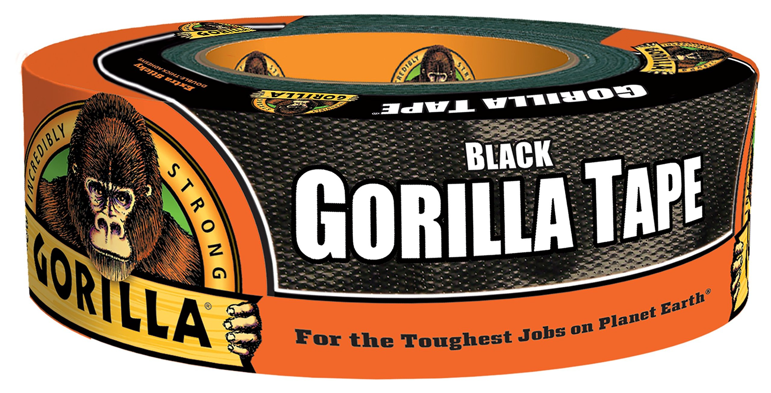 Gorilla Tape 6035180 Duct Tape 1.88'' x 35 Yd, 18 pack, Black, Piece