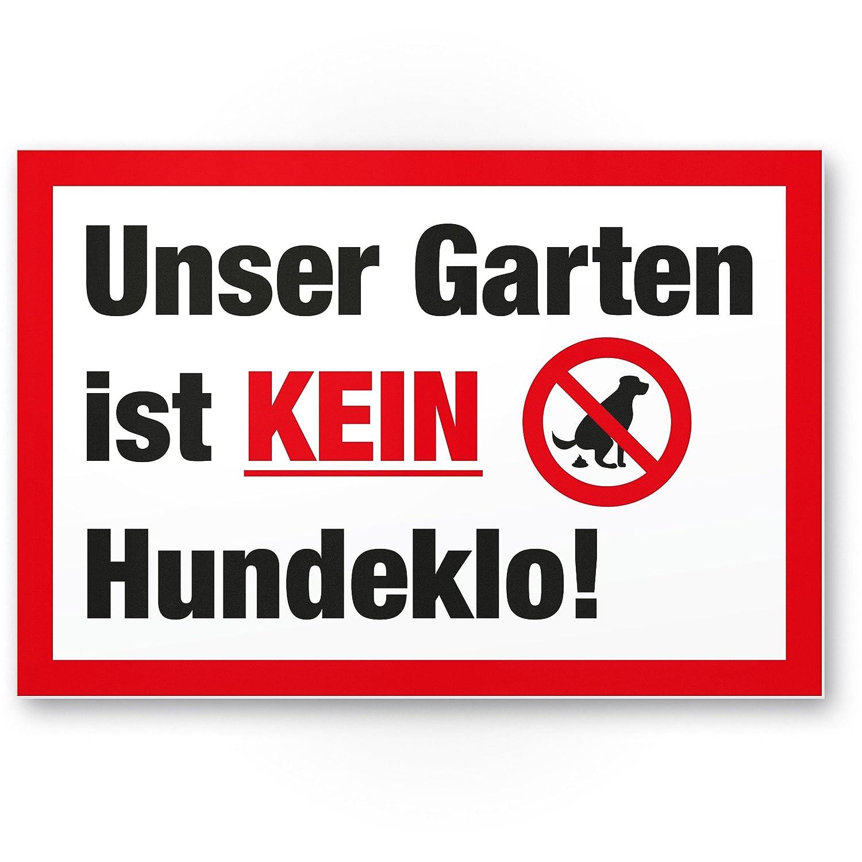 Jardín No Perros WC/No Perros inodoro - Señal de prohibido ...