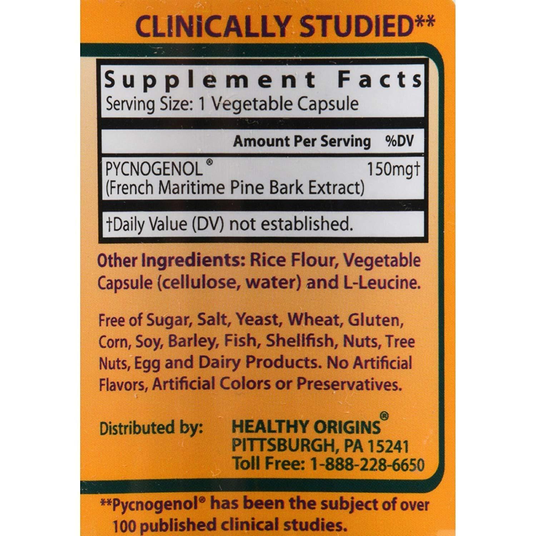 Healthy Origins Pycnogenol - 150 Mg - 120 Vegetarian Capsules by HnBlist (Image #2)